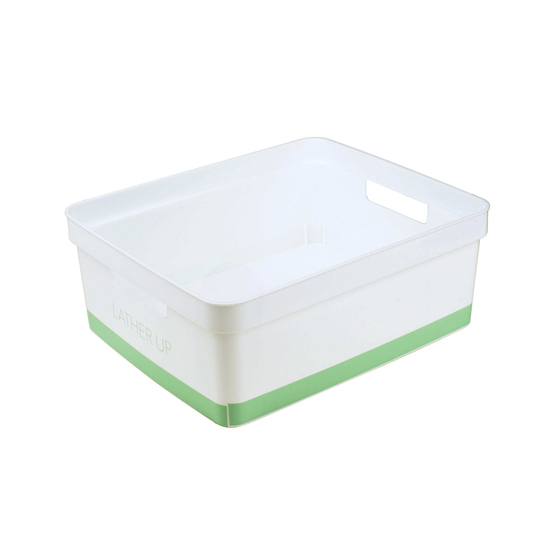 Simplify Blueclear Plastic Bathroom Storage Bin with proportions 3000 X 3000