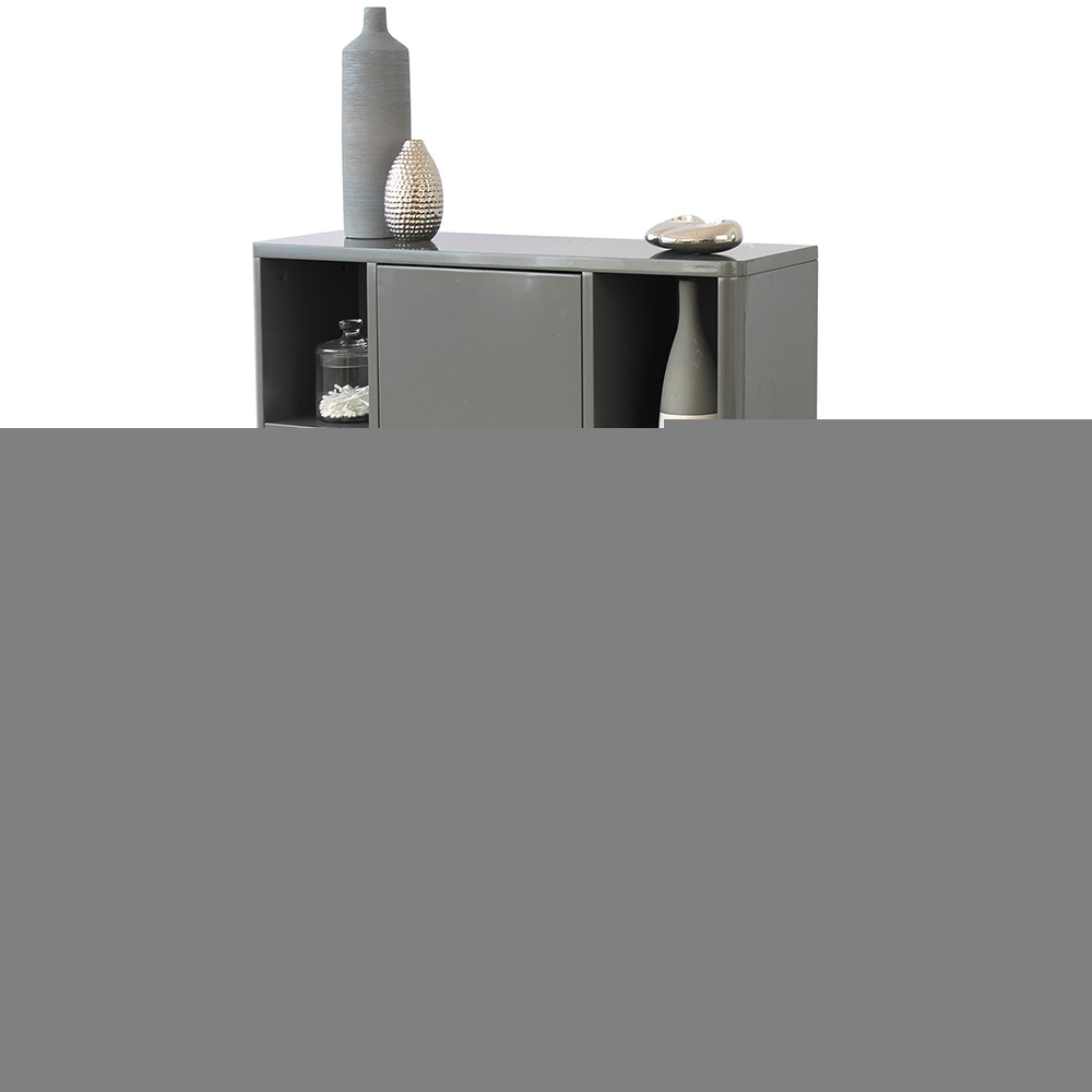 Sleek Grey Bathroom Storage Console Cupboard Unit intended for size 1000 X 1000