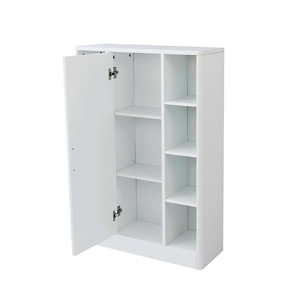 Sleek White Bathroom Storage Console Cupboard Unit regarding sizing 1000 X 1000