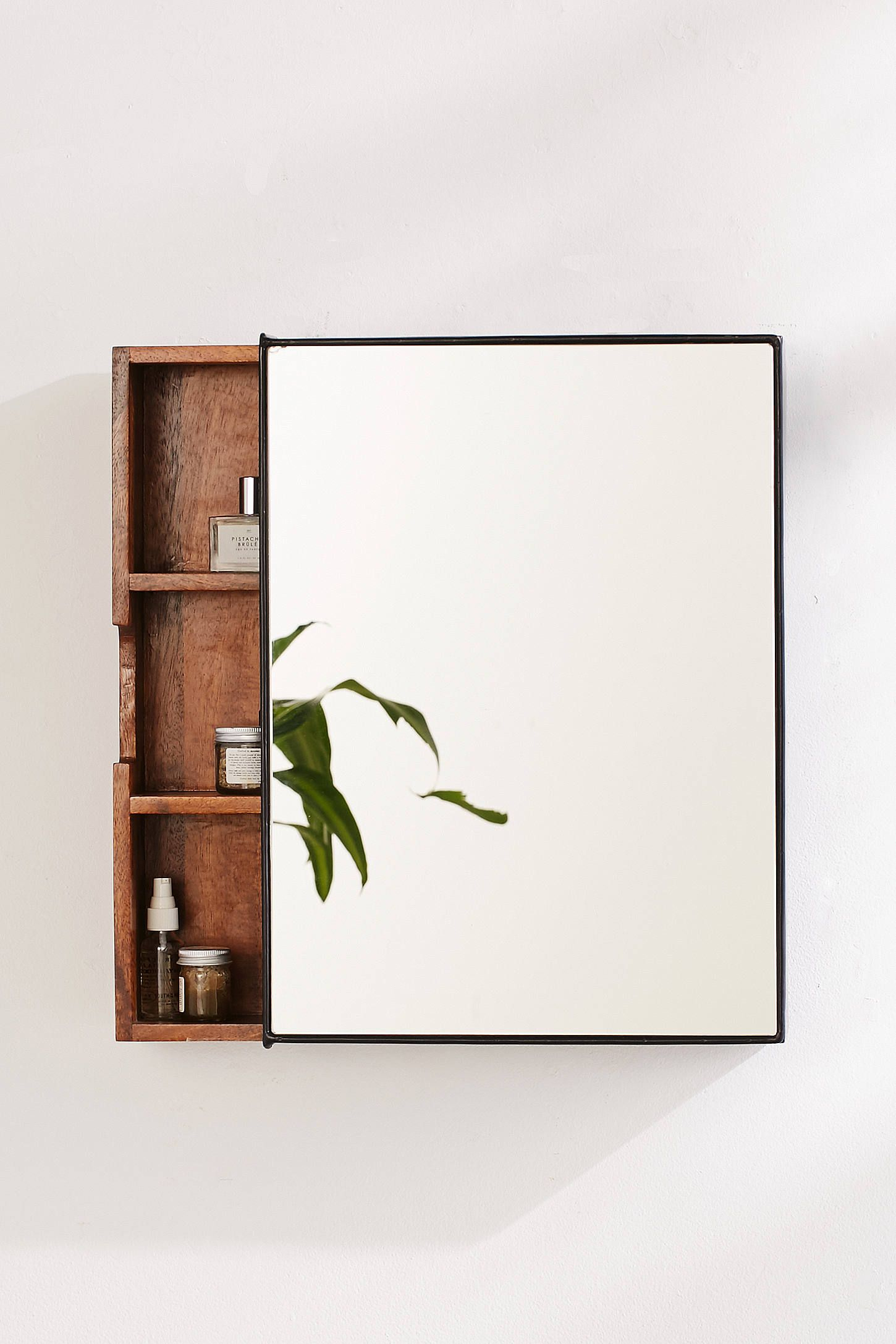 Slide View 1 Plymouth Storage Mirror Bathroom Interir with regard to proportions 1450 X 2175