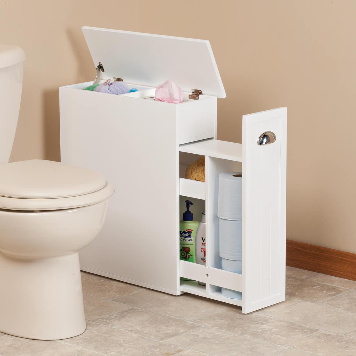 Slim Bathroom Storage Cabinet Oakridge for size 1168 X 1168