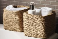 Small Jute Storage Basket Bathroom Accessories The White pertaining to proportions 1392 X 1392