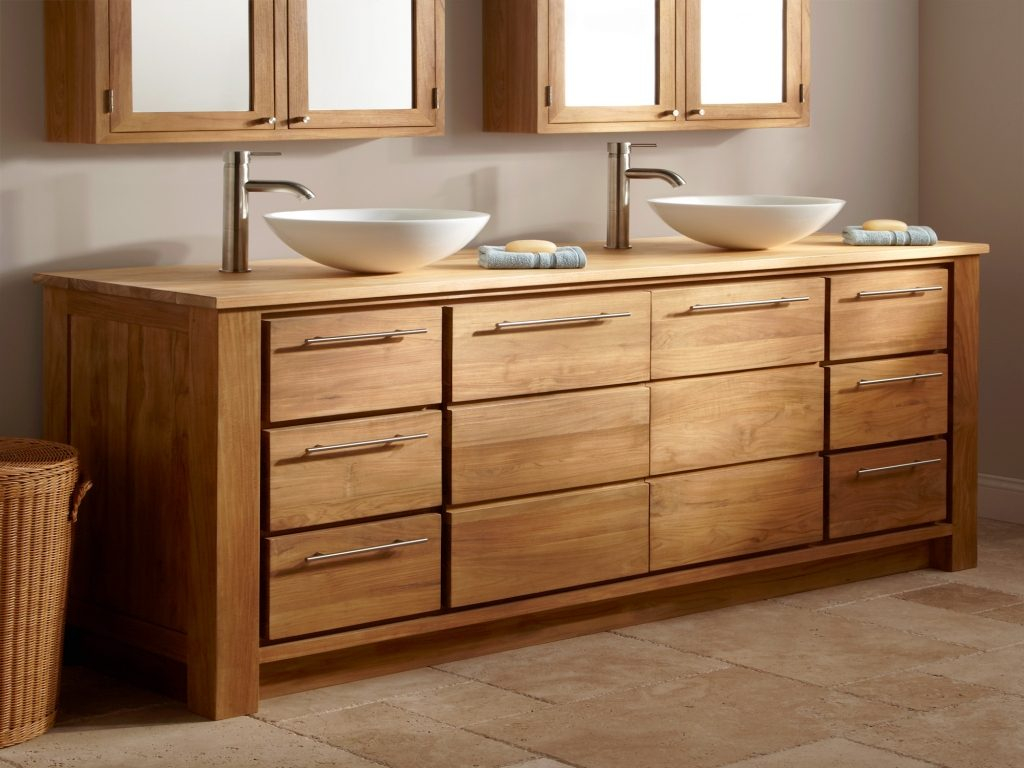 Solid Wood Bathroom Vanity Cabinets Top Solid Surface Vanity with regard to proportions 1024 X 768