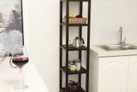 Songmics 100 Bamboo Bathroom Shelf 5 Tier intended for measurements 1500 X 1500
