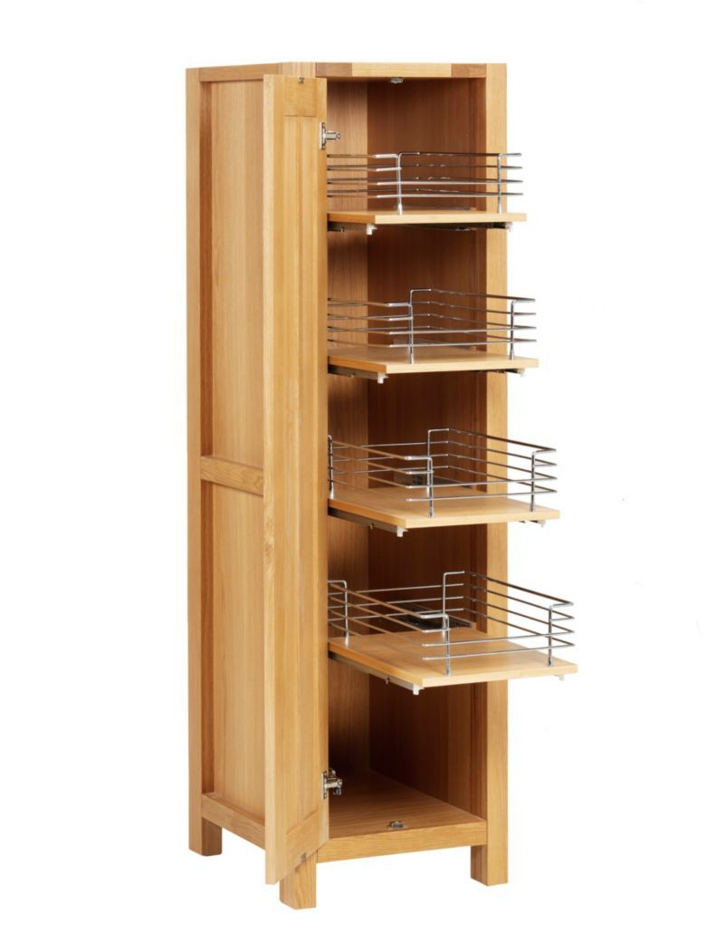 Sonoma Light Kitchen Pull Out Larder Unit Ms Shoe Rack intended for dimensions 800 X 1040