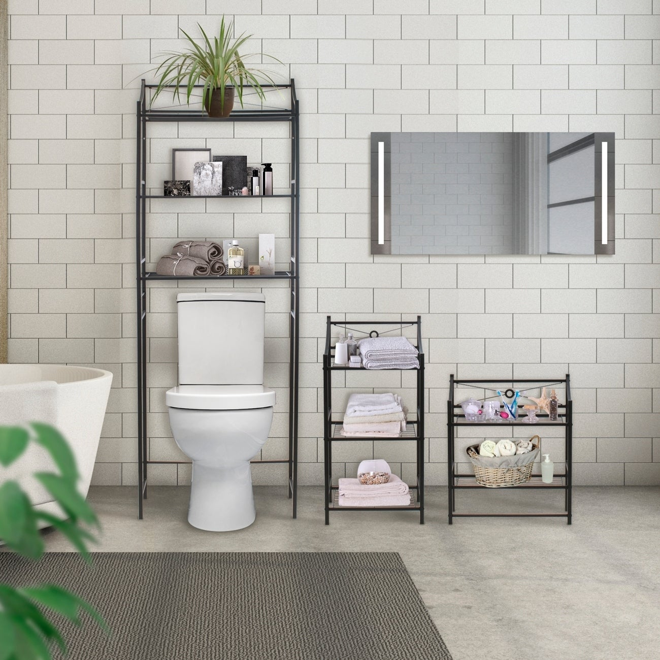 Sorbus Bathroom Storage Shelf Freestanding Shelves For Bath Essentials Planters Books And Much More in measurements 1300 X 1300