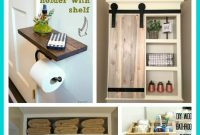 Space Saving Diy Bathroom Storage Ideas A Organized Nest with proportions 700 X 1241