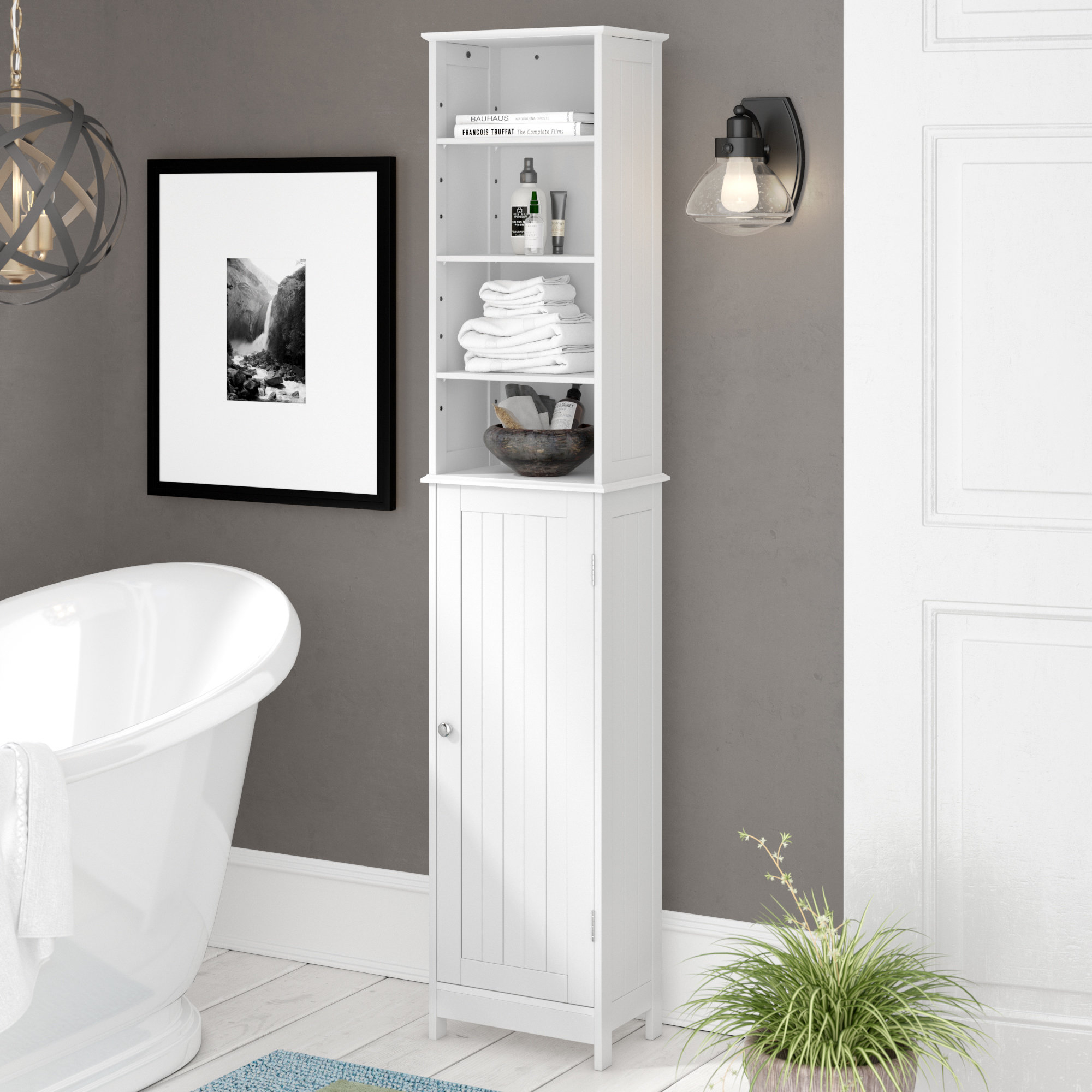 Splendora 1655x34cm Free Standing Tall Bathroom Cabinet within proportions 2000 X 2000