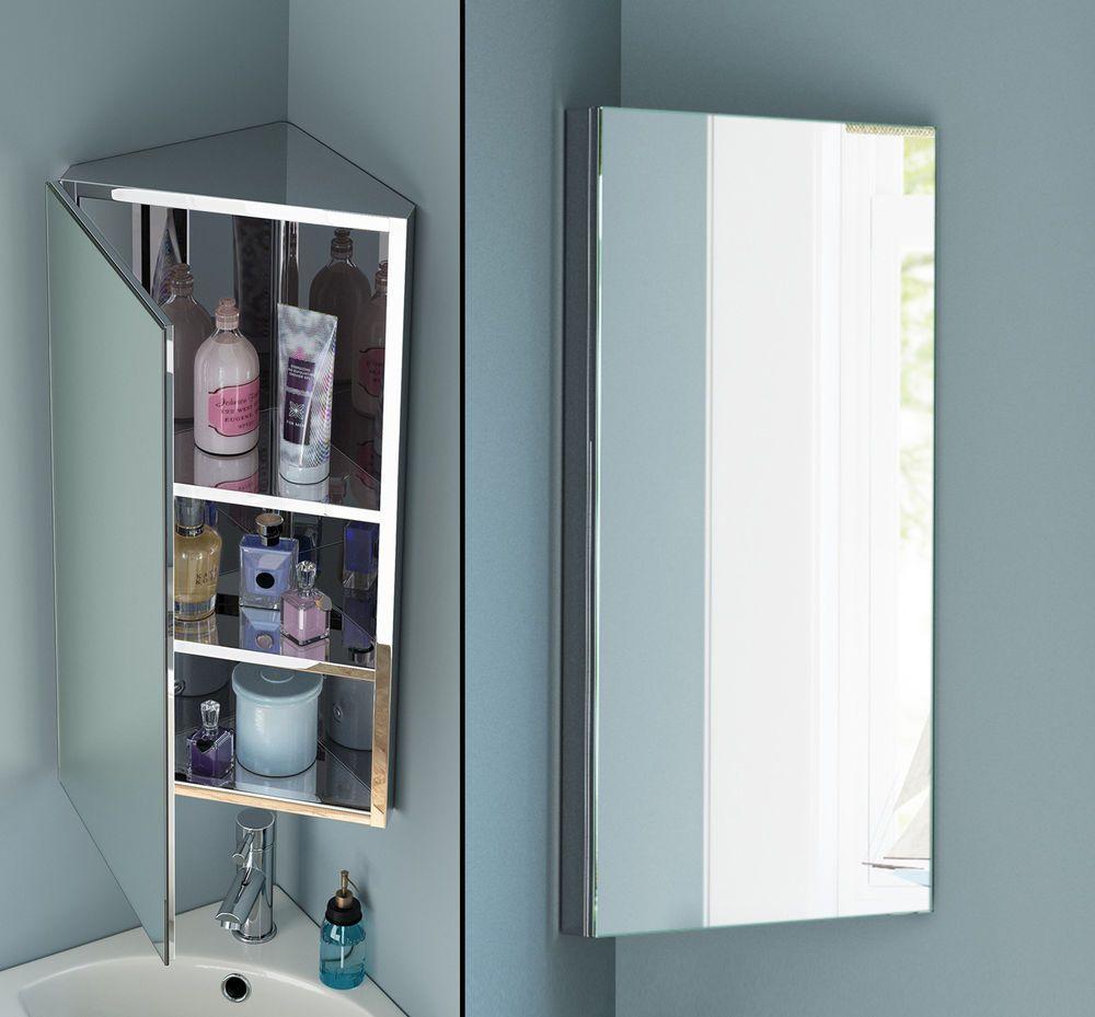 Stainless Steel Bathroom Corner Wall Mirror Cabinet Mc101 regarding size 1000 X 929