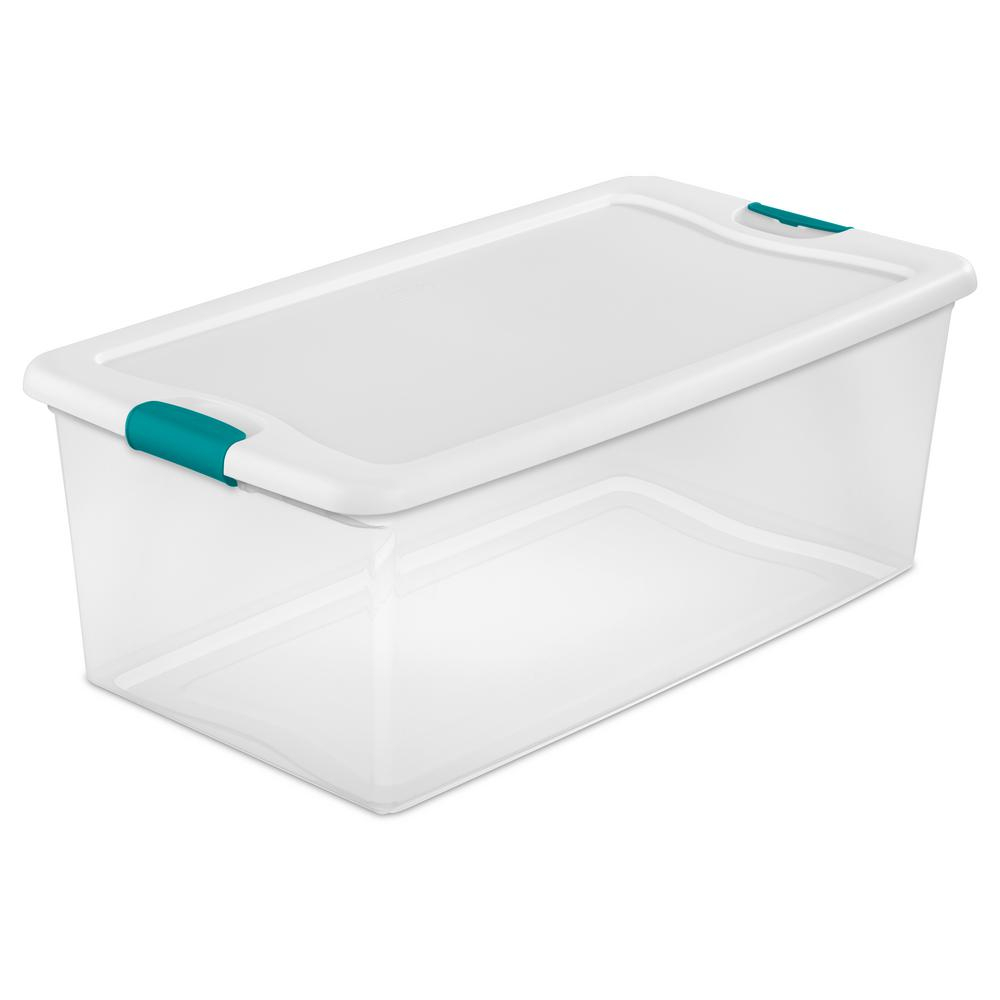 Sterilite 106 Qt Latching Storage Box inside measurements 1000 X 1000