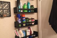 Storage Behind My Bathroom Door Using Bekvam Spice Racks inside measurements 1000 X 1334