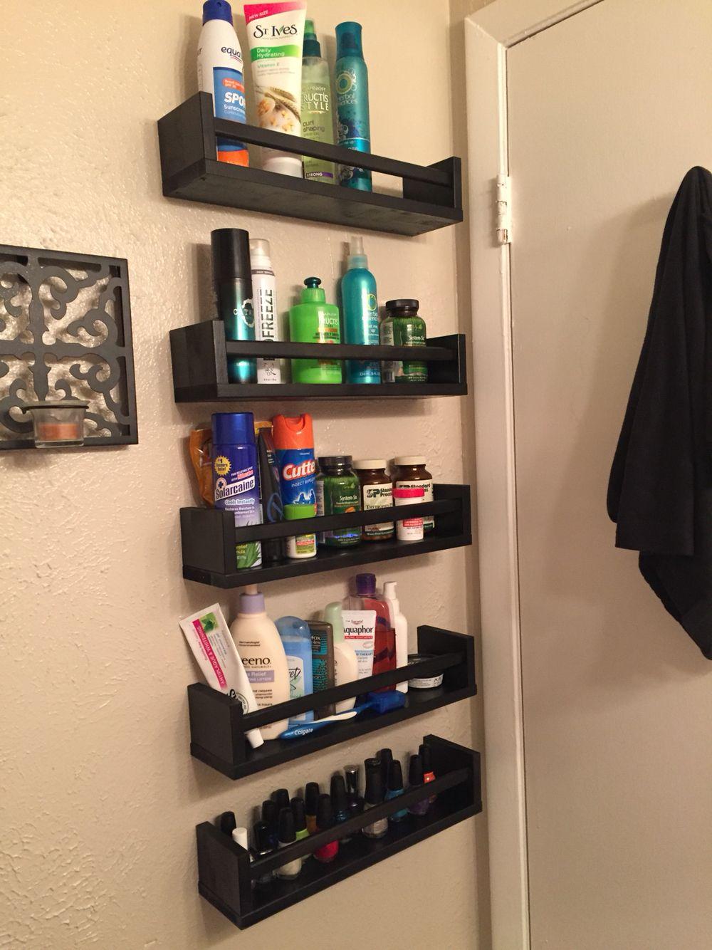 Storage Behind My Bathroom Door Using Bekvam Spice Racks regarding proportions 1000 X 1334