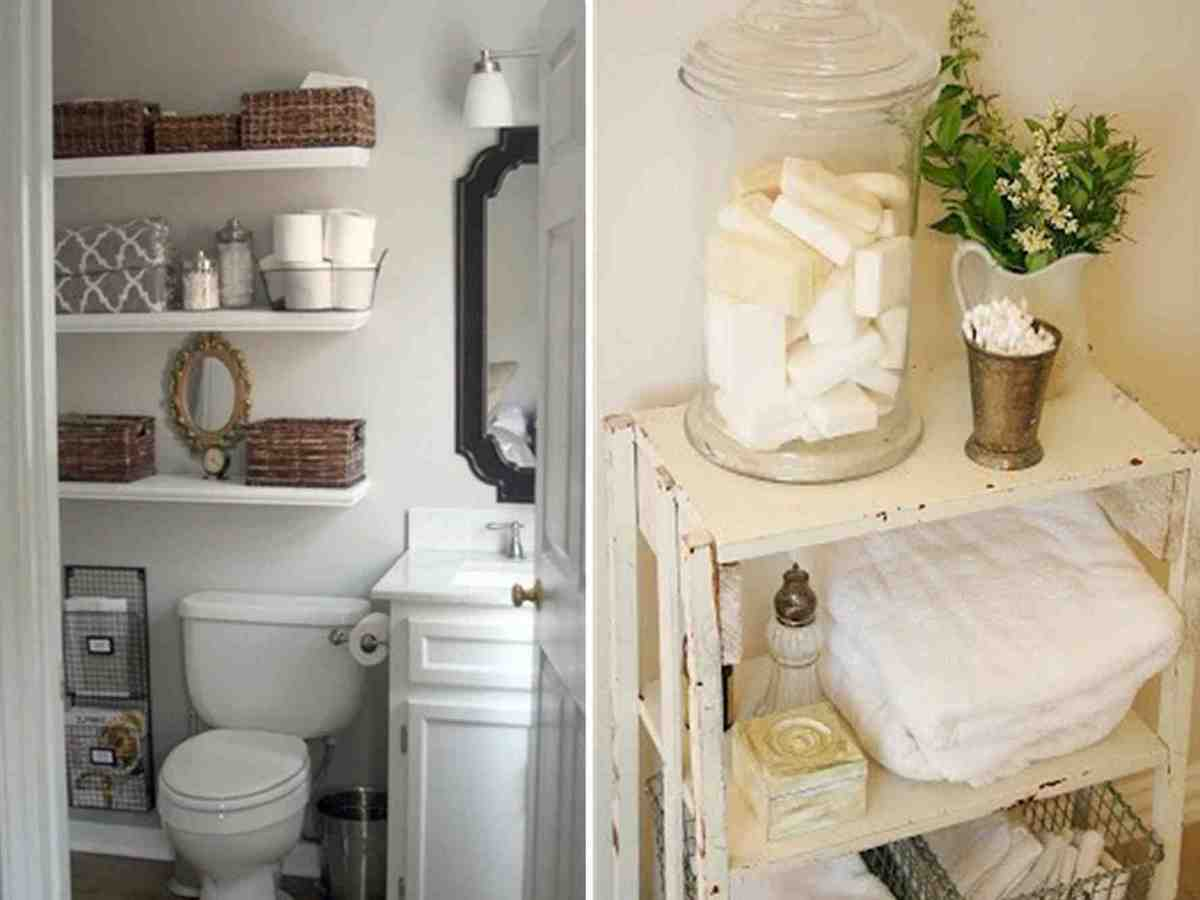 Storage Ideas For Small Bathrooms With Shelf Awesome Fence with measurements 1200 X 900