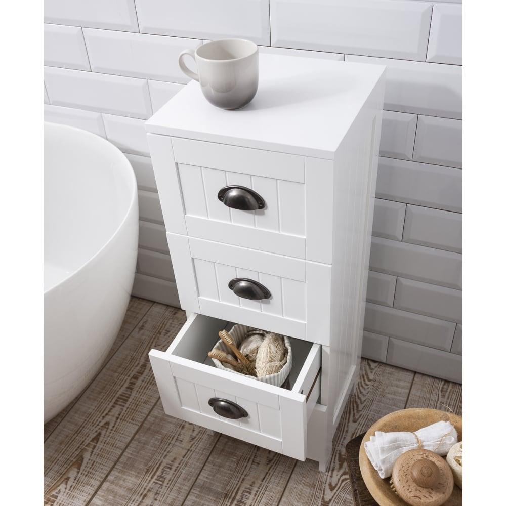 Stow Bathroom Cabinet 4 Drawer Storage Unit In White regarding size 1000 X 1000