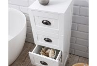 Stow Bathroom Cabinet 4 Drawer Storage Unit In White throughout measurements 1000 X 1000