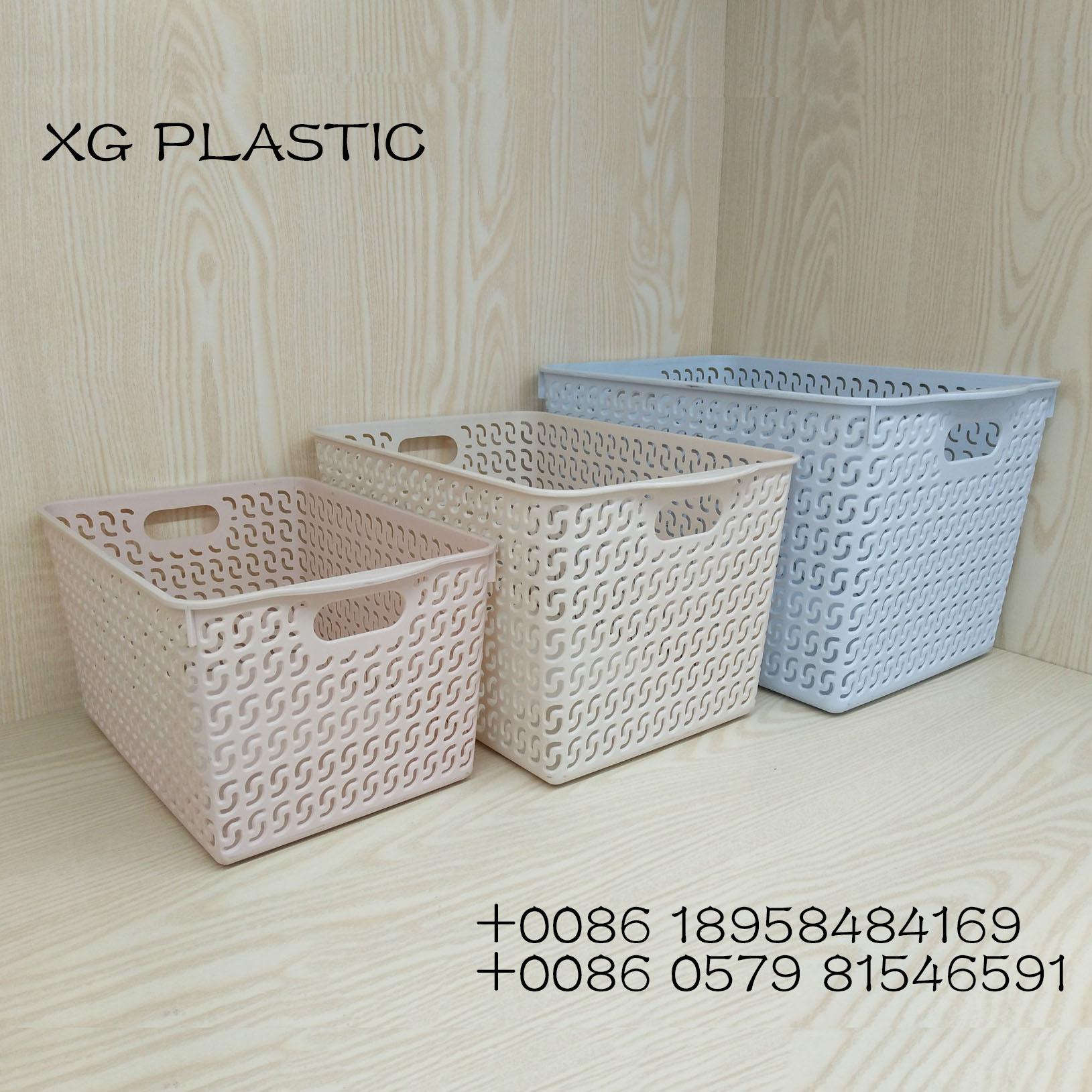 Supply Plastic Storage Baskets Bins Organizer With Handles for dimensions 1629 X 1629