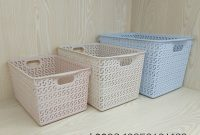 Supply Plastic Storage Baskets Bins Organizer With Handles for size 1629 X 1629