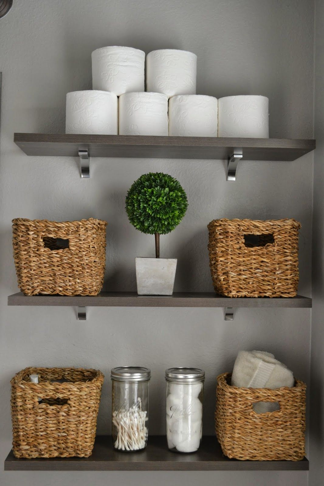 Take Toilet Paper Out Of The Plastic And Stack Them Baskets in proportions 1066 X 1600