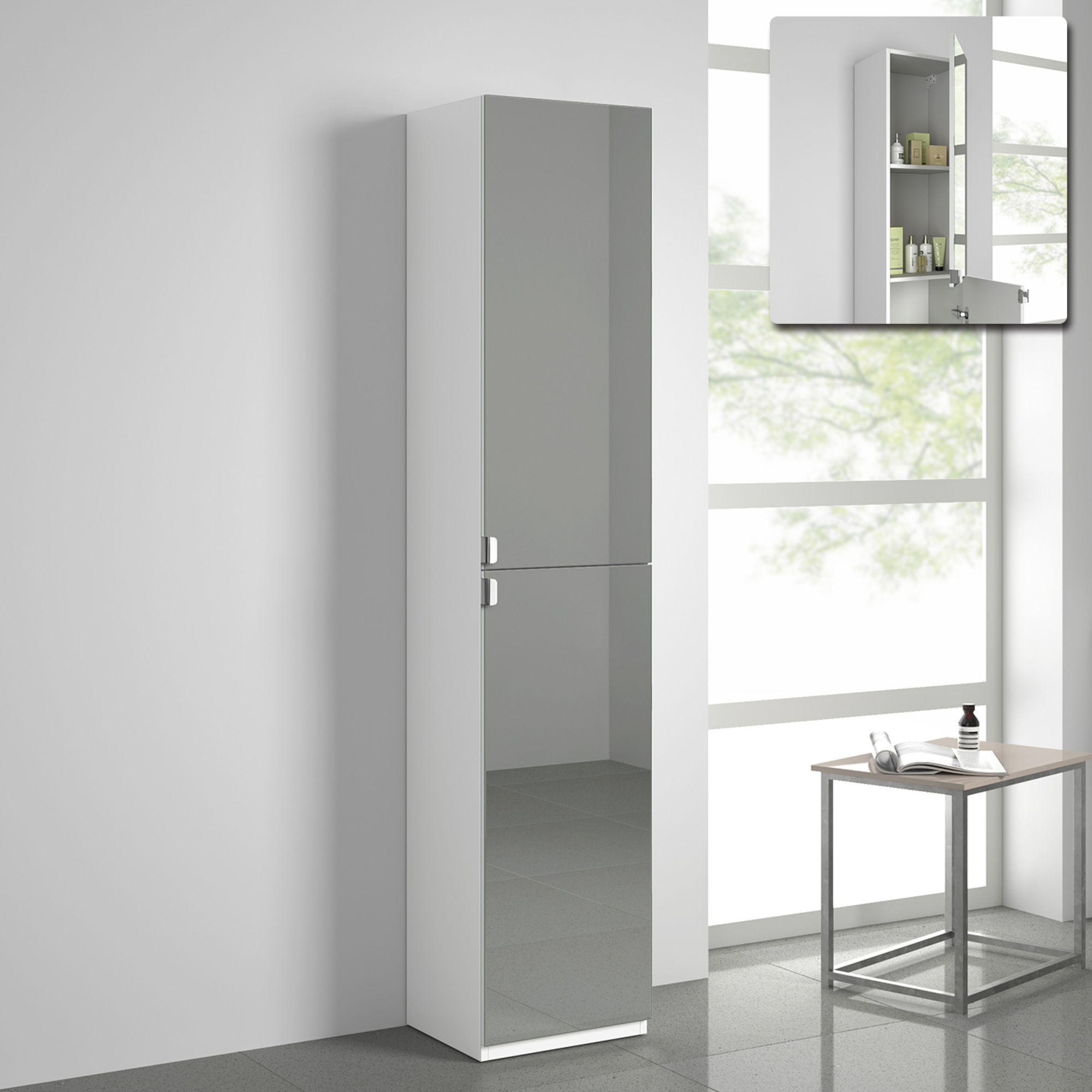 Tall Bathroom Cabinet With Mirrors Tall Mirror Cabinets Soak inside proportions 2000 X 2000