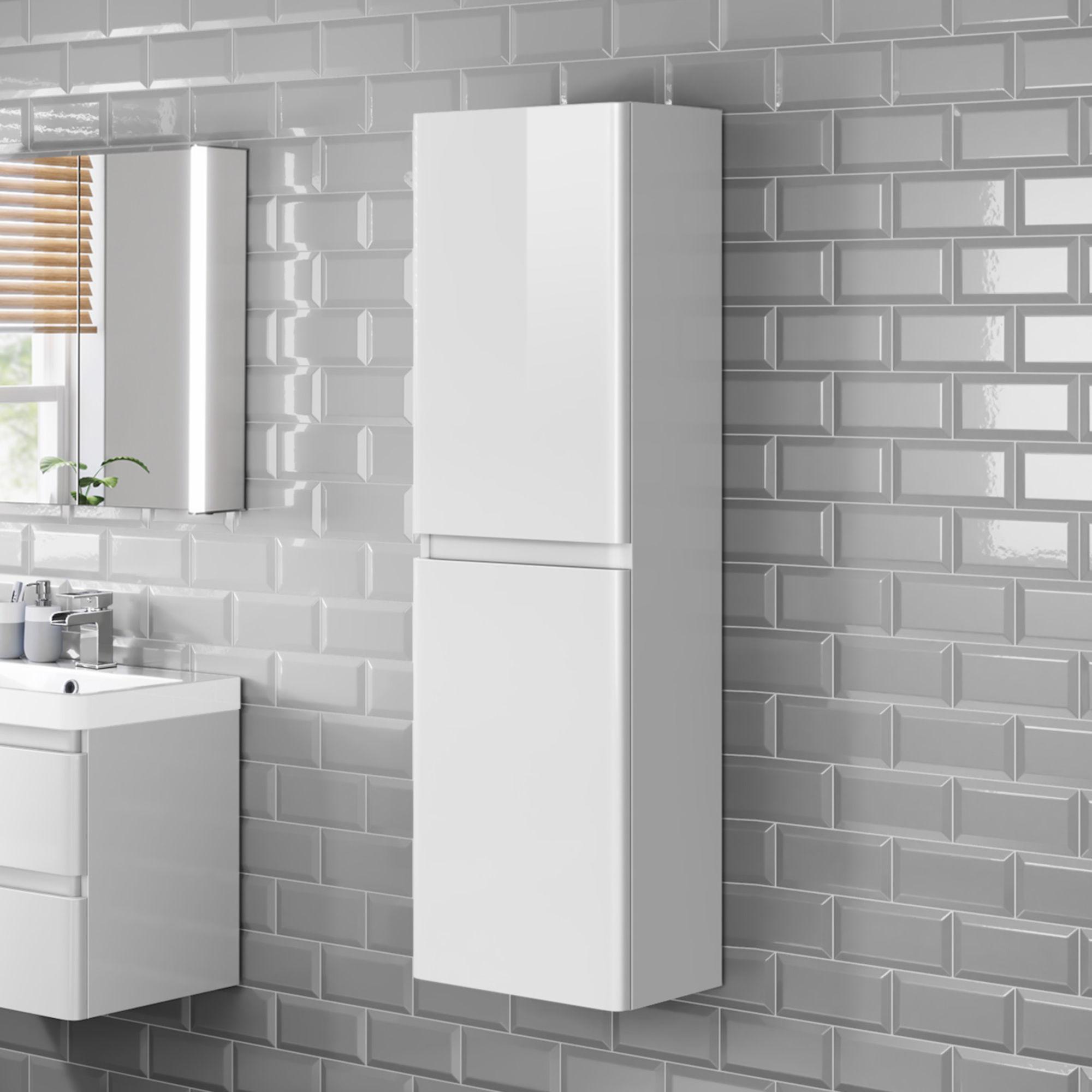Tall Wall Mounted Bathroom Cabinet 1400mm White Cabinet Soak regarding size 2000 X 2000