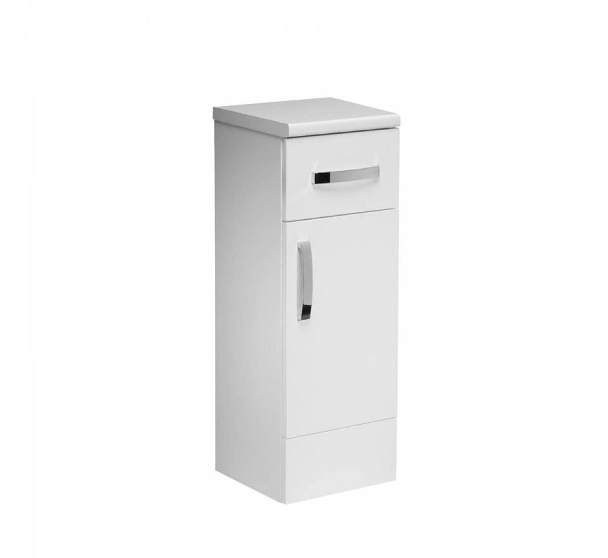 Tavistock Courier 300mm Bathroom Storage Unit White Gloss Cr30fcw with measurements 1200 X 1100