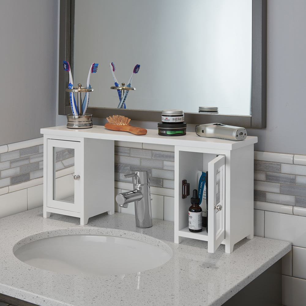 The Over The Sink Storage Organizer with measurements 1000 X 1000