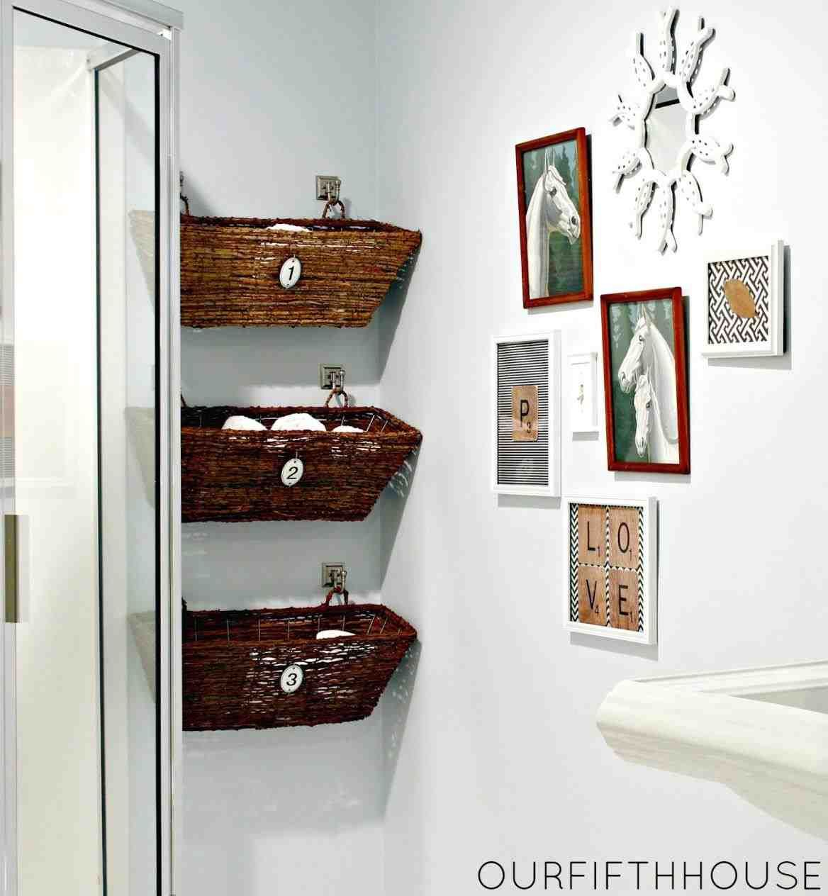 This Bathroom Wall Storage Baskets Ergonomic Wall Mounted with sizing 1168 X 1264