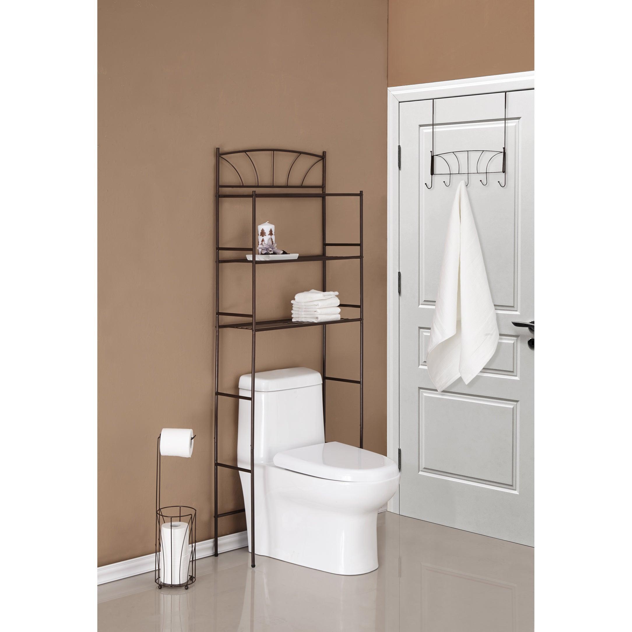 Three Piece Palm Design Combo Bathroom Storage Kit with regard to dimensions 2169 X 2169