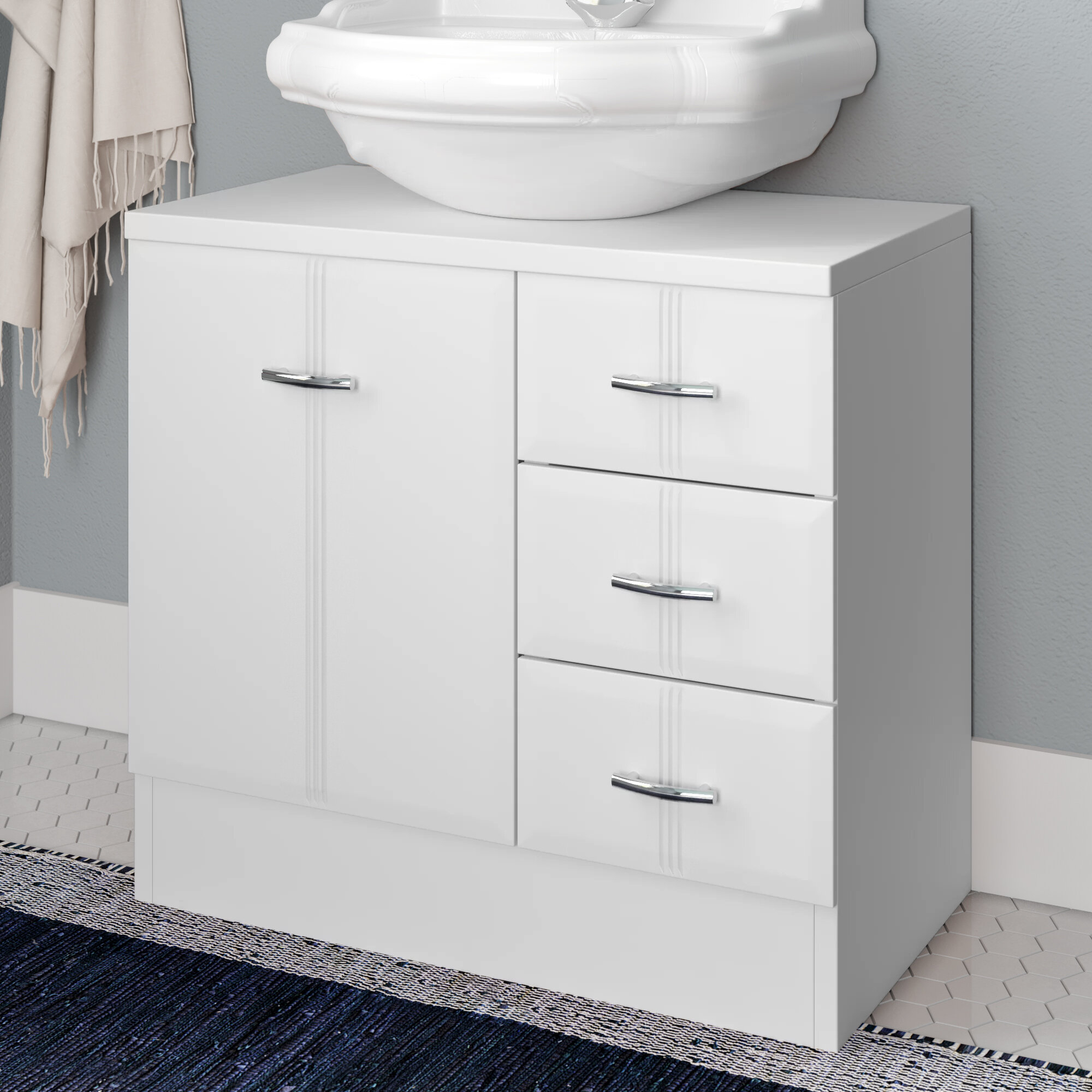 Tillie 60cm Under Sink Storage Unit in measurements 2000 X 2000