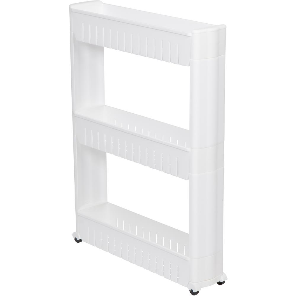 Trademark Innovations 28 In Slim Slide Out Storage Tower For Laundry Bathroom And Kitchen within size 1000 X 1000
