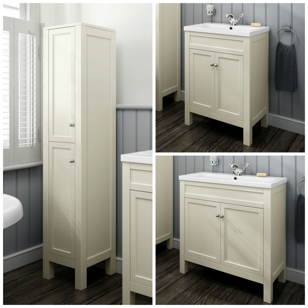 Traditional Clotted Cream Bathroom Vanity Unit Basin throughout proportions 1000 X 1000