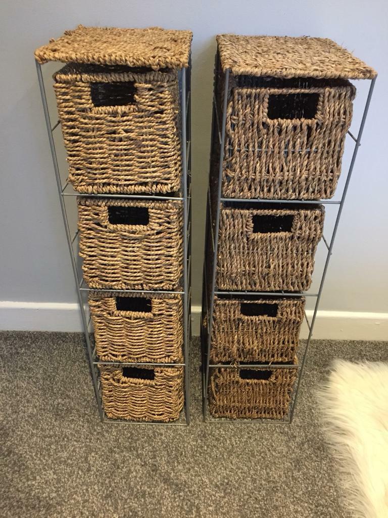 Two Wicker Bathroom Storage Drawers In Bromborough Merseyside Gumtree pertaining to measurements 768 X 1024