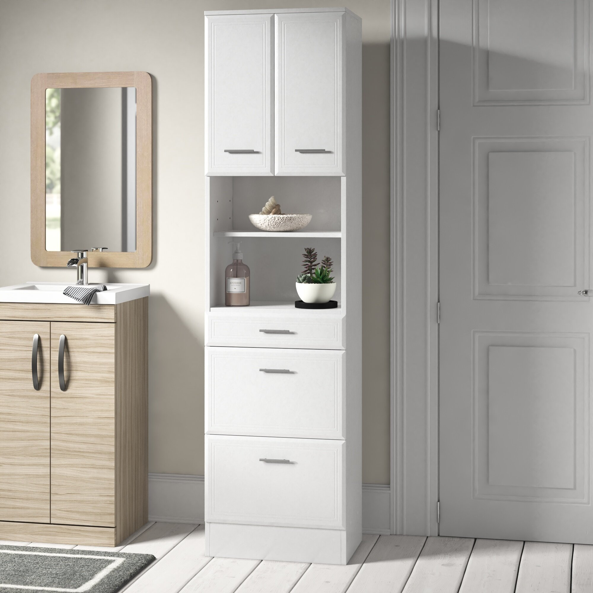 Tysen 50 X 190cm Tall Bathroom Cabinet intended for measurements 2000 X 2000