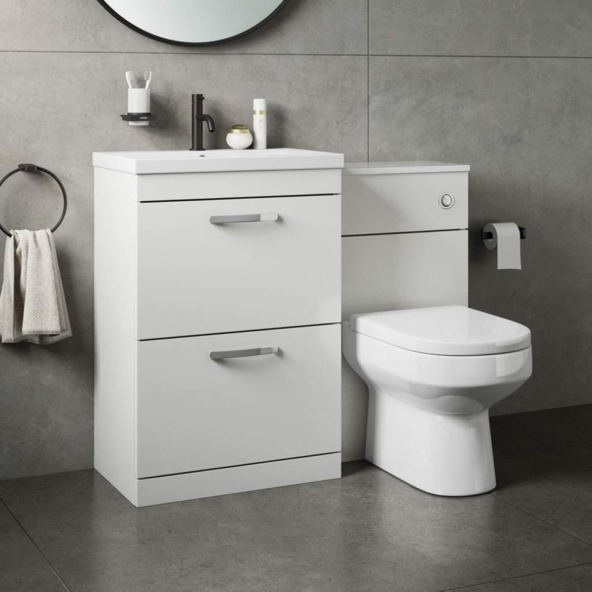Units Lavatory Saving Vanity Small Shower Bathroom within dimensions 1200 X 1200