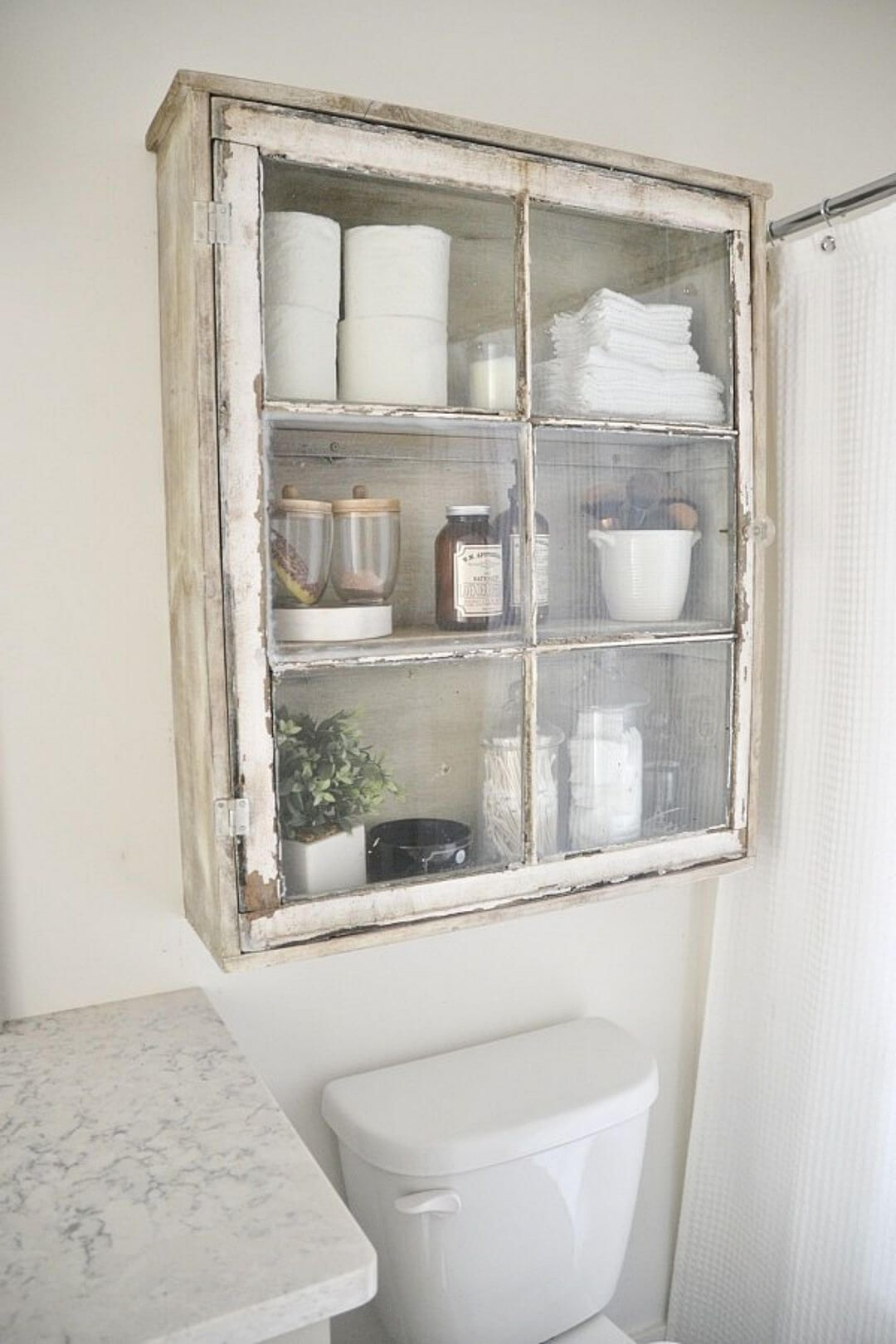 Upcycled Over Toilet Bathroom Storage Cabinet Using An Old regarding sizing 1080 X 1620