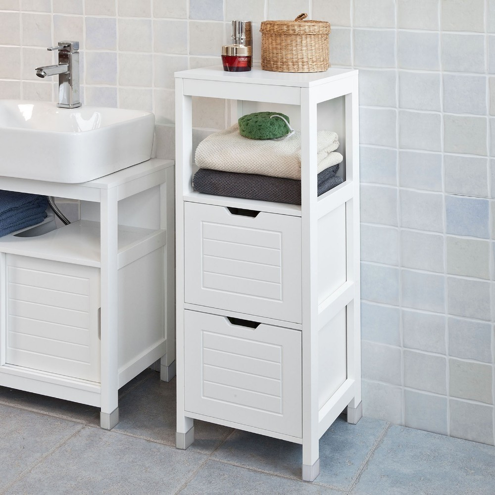Us 7599 Sobuy Frg127 W White Floor Standing Bathroom Storage Cabinet Unit With 1 Shelf And 2 Drawers On Aliexpress Alibaba Group for sizing 1000 X 1000