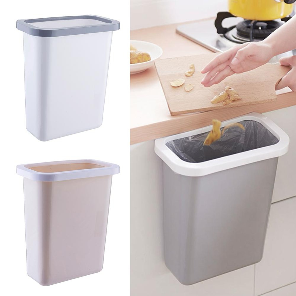 Us 979 11 Offplastic Large Kitchen Hanging Trash Bin 10l Cupboard None Cover Waste Bin Fixed Garbage Bag Toilet Bathroom Storage Box In Storage with regard to size 1000 X 1000