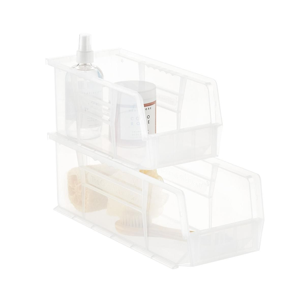 Utility Narrow Stackable Plastic Bins House List Plastic with sizing 1200 X 1200