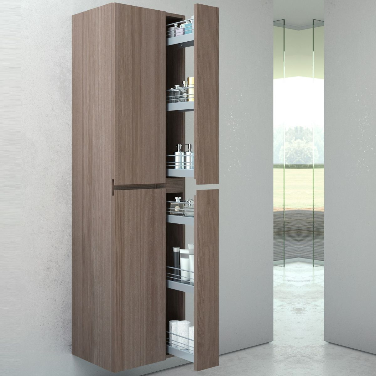 Vitra Memoria Tall Cabinet With Pull Out Storage inside sizing 1200 X 1200