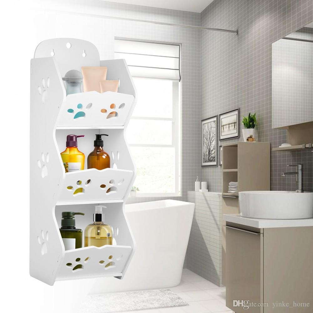 Wall Mounted Bathroom Corner Storage Shelf Sucker Suction Cup Plastic Shower Basket Organizer Washroom Wall Hanging Rack Shower Soap Holder for size 1000 X 1000