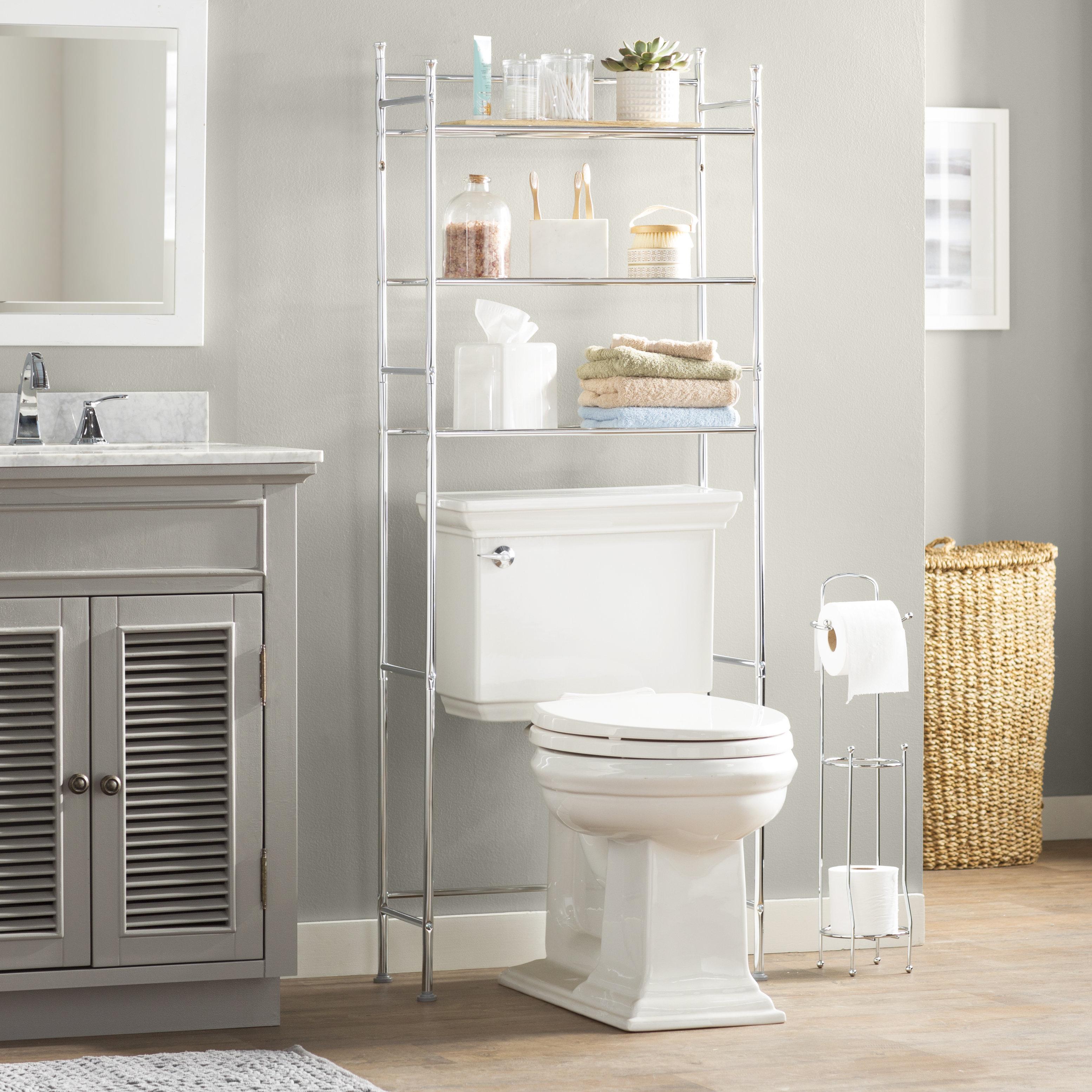 Wayfair Basics 2283 W X 5984 H Over The Toilet Storage inside measurements 3109 X 3109