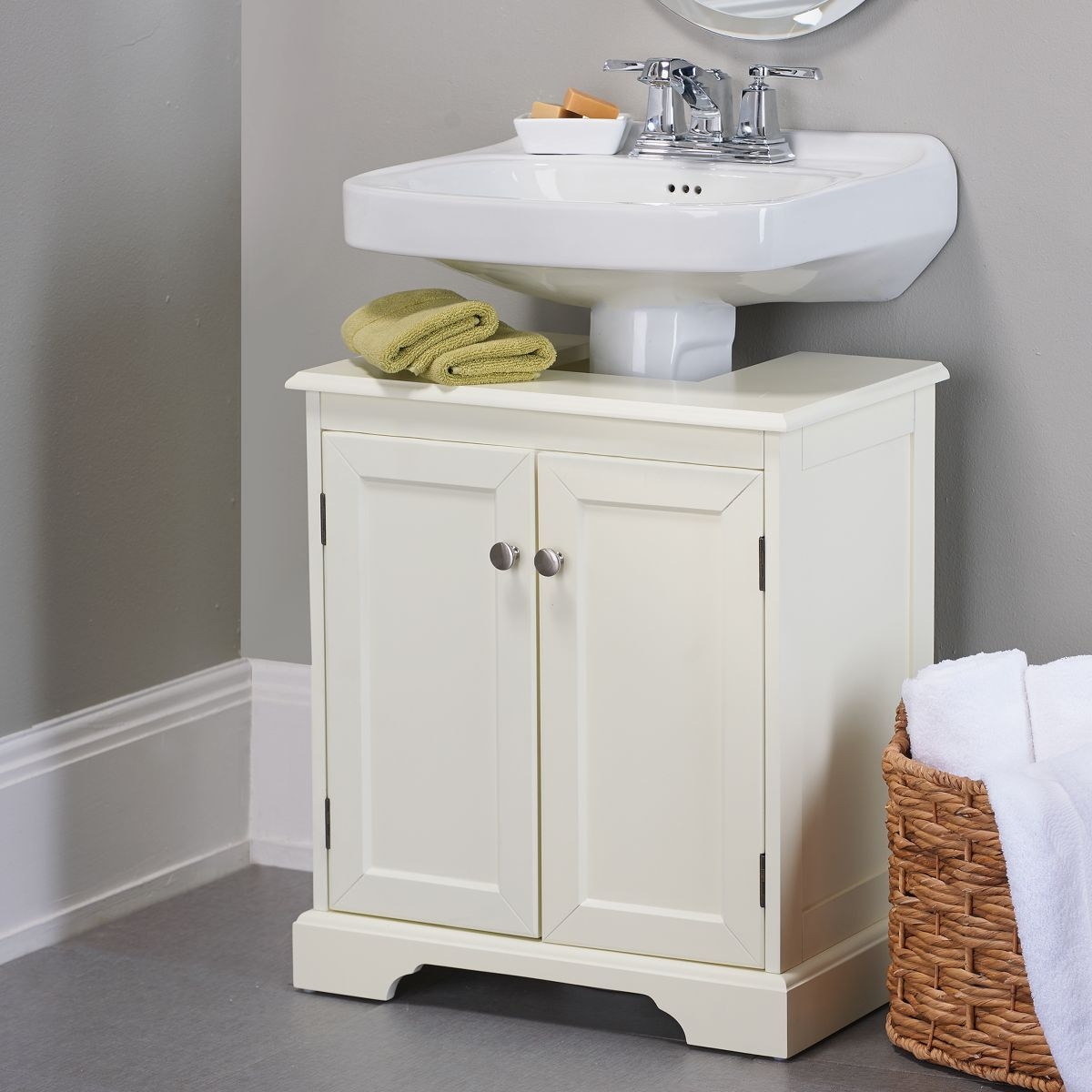Weather Bathroom Pedestal Sink Storage Cabinet Crafts throughout measurements 1200 X 1200