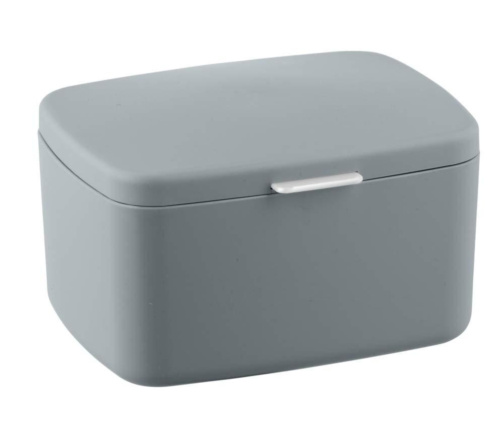 Wenko Barcelona Grey Small Bathroom Storage Box With Lid 23967100 for size 1000 X 851
