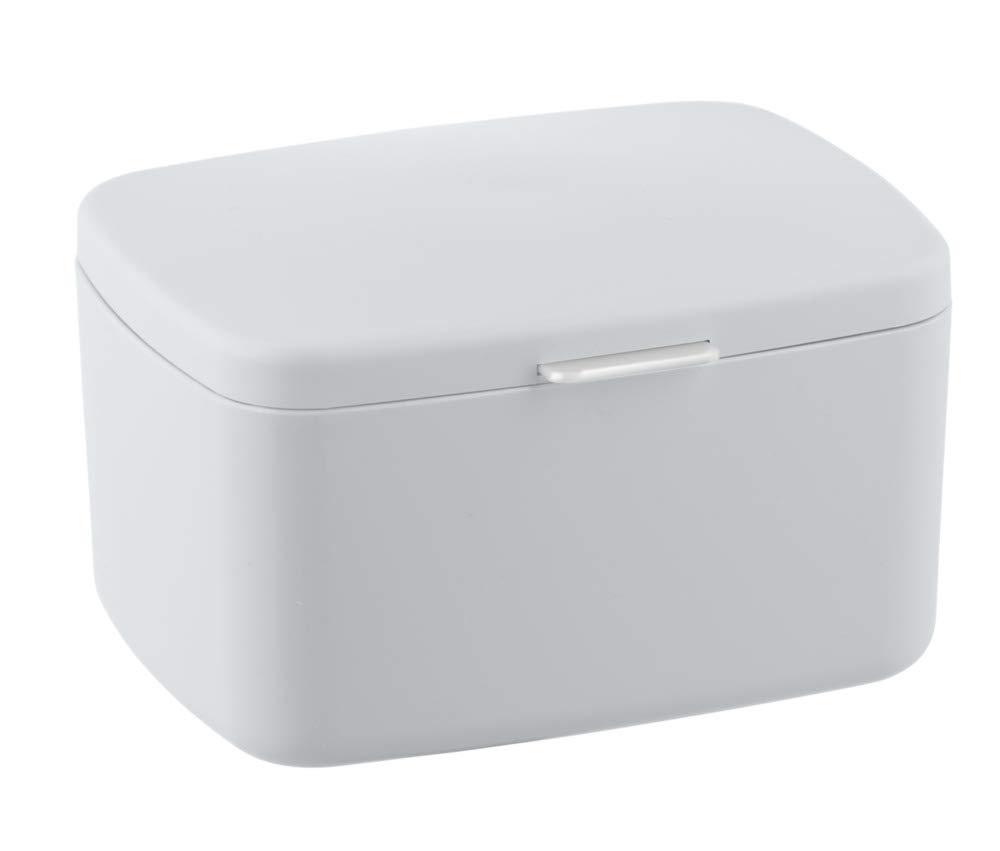 Wenko Barcelona White Small Bathroom Storage Box With Lid 23960100 with size 1000 X 851