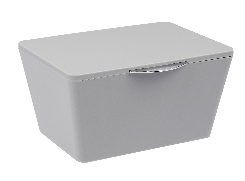 Wenko Brasil Grey Small Bathroom Storage Box With Lid 22599100 throughout dimensions 1500 X 1110