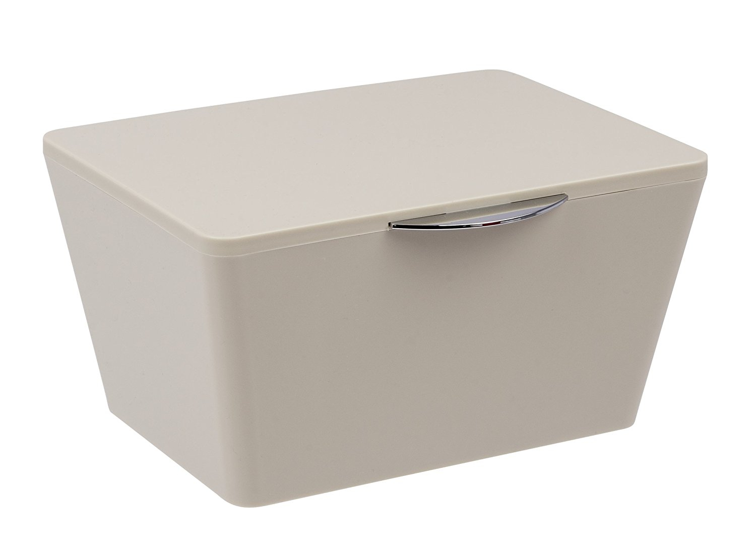 Wenko Brasil Taupe Small Bathroom Storage Box With Lid 22598100 pertaining to proportions 1500 X 1110