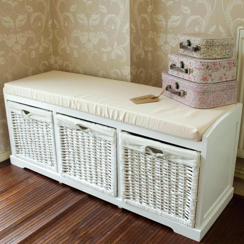 White Bathroom Bench With Storage within size 999 X 999