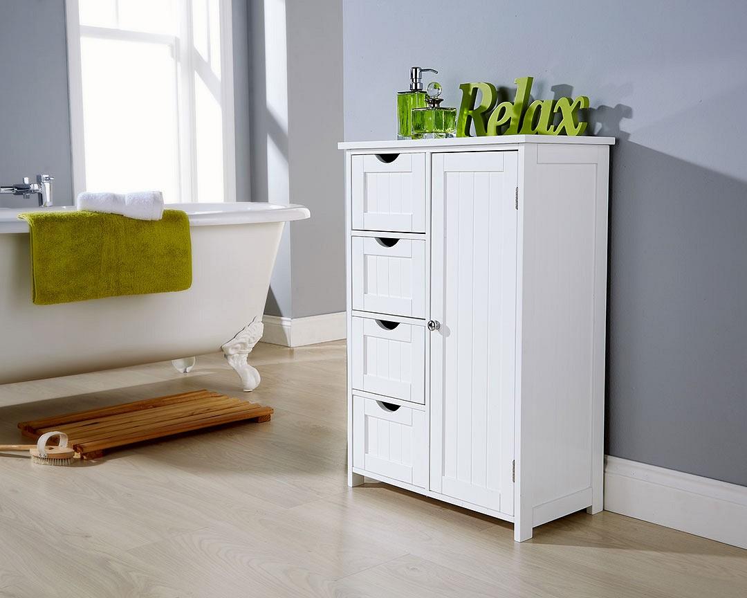 White Bathroom Multi Storage Unit Colonial Bathroom Furniture inside size 1080 X 864