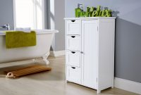 White Bathroom Multi Storage Unit Colonial Bathroom Furniture intended for sizing 1080 X 864