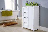 White Bathroom Multi Storage Unit Colonial Bathroom Furniture with regard to measurements 1080 X 864